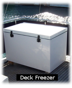 Boat Deck Freezers - Custom marine and boat refrigeration  Efficient